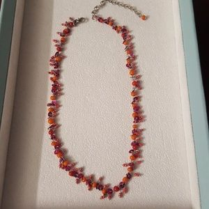 Jewelry - Handmade necklace with sequins and beads